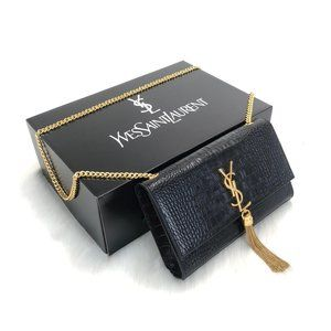 %100 Leather YSL Medium Kate Tassel Chain Bag